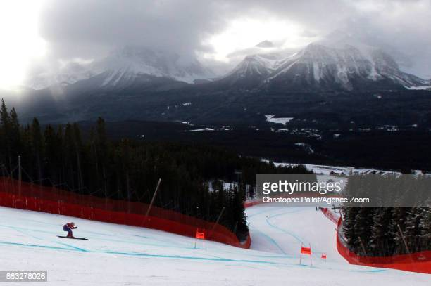 Breezy Johnson of USA in action during the Audi FIS Alpine Ski World Cup Women's Downhill Training on November 30 2017 in Lake Louise Canada
