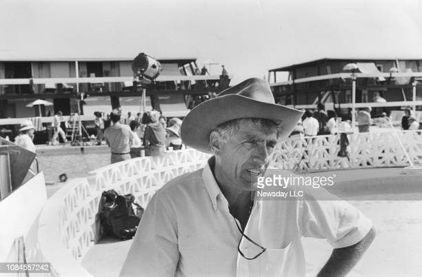 Director Garry Marshall on the set of the movie The Flamingo Kid at the Silver Gull Beach Club in Breezy Point Queens New York on October 6 1983