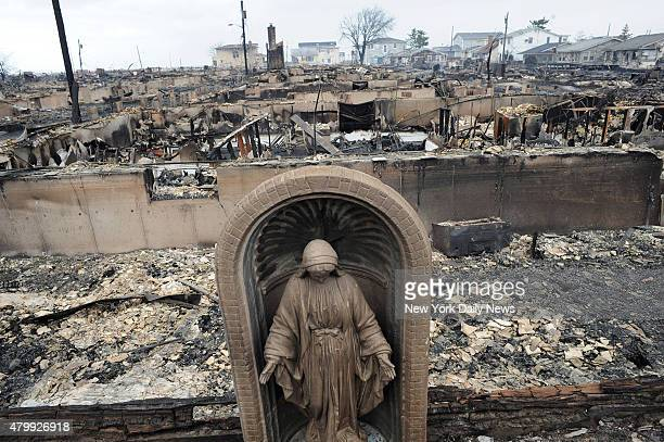 Breezy Point suffered severe damage such as these 100 house that were burnt to the ground after being hit by Hurricane Sandy Queens NY