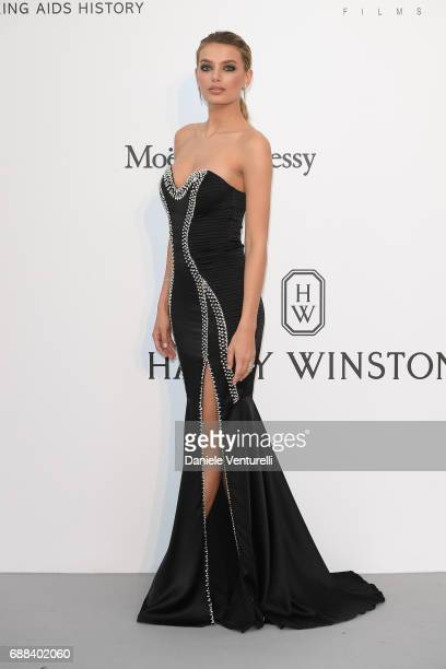 Bregje Heinen arrive at the amfAR Gala Cannes 2017 at Hotel du CapEdenRoc on May 25 2017 in Cap d'Antibes France