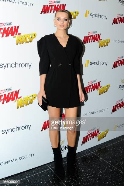 Bregje Heinen attends The Cinema Society With Synchrony And Avion Host A Screening Of Marvel Studios' 'AntMan And The Wasp' at The Museum of Modern...