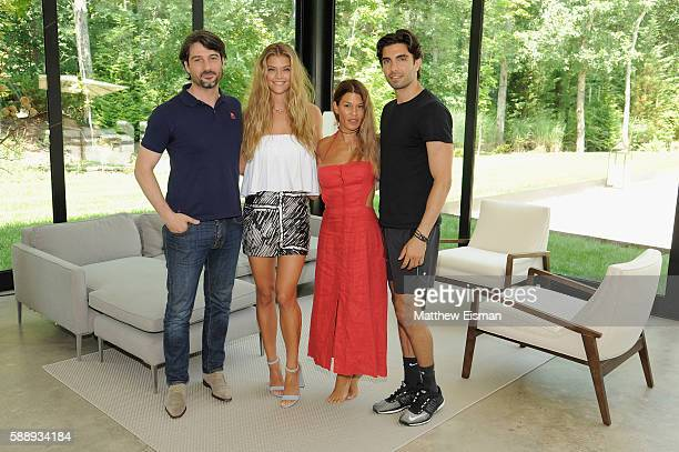 Bregt Ectors Nina Agdal Jenne Lombardo and Akin Akman attend the Buick celebration of the new Envision in the Hamptons at Buick Studio Envision on...