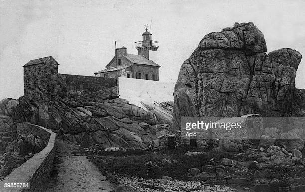 Brehat island the lighthouse postcard c 1903
