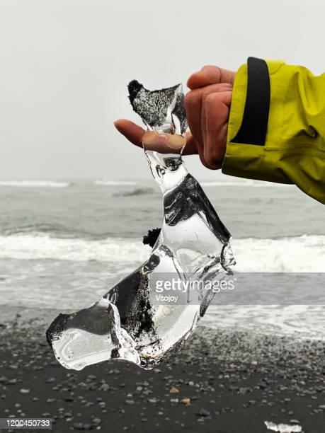 breiðamerkursandur (diamond beach) v, iceland - vsojoy stock pictures, royalty-free photos & images