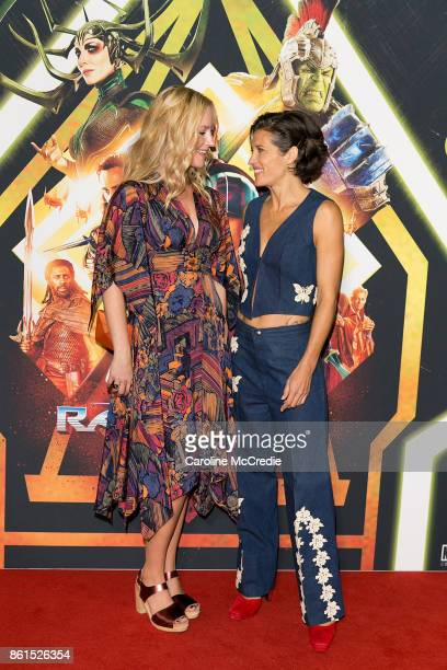Breigh Winderbaum and Chelsea Winstanley attend the THOR RAGNAROK Sydney special event screening at Hoyts Entertainment Quarter Sydney Australia on...