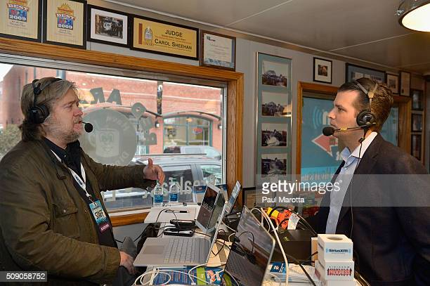 Breitbart News Daily Stephen K Bannon interviews Donald Trump Jr for SiriusXM Broadcasts' New Hampshire Primary Coverage Live From Iconic Red Arrow...