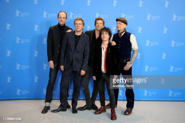 Breiti Andi Campino Vom and Kuddel pose at the You Only Live Once Die Toten Hosen On Tour photocall during the 69th Berlinale International Film...