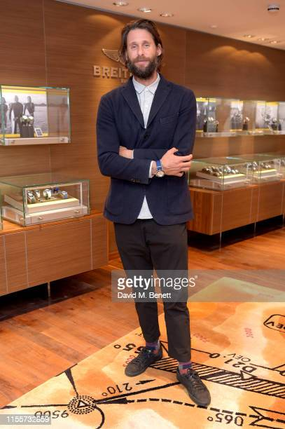 Breitling Ambassador David Mayer De Rothschild attends the Swiss luxury watch manufacturer Breitling launch their Limited Edition Superocean Heritage...