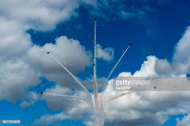 Breitling Jet Team Flying Air Show cloudy Fireworks Hillsboro Oregon