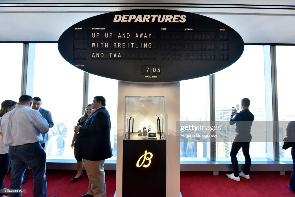 NY: Breitling Unveils Its Capsule Collection Of Navitimer Watches Celebrating The Golden Era Of Aviation At The TWA Lounge At One World Trade Center