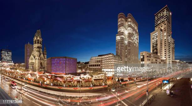 breitscheidplatz with christmas market (berlin, germany) - central berlin stock pictures, royalty-free photos & images
