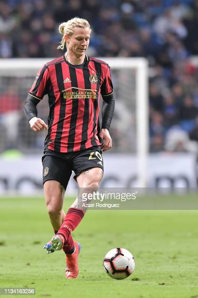 Brek Shea of Atlanta United drives the ball during the quarterfinals first leg match between Monterrey and Atlanta United as part of the CONCACAF...