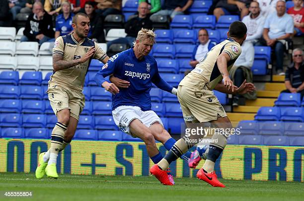 Brek Shea of Birmingham fires in a shot during the Sky Bet Championship match between Birmingham City and Leeds United at St Andrews on September 13...