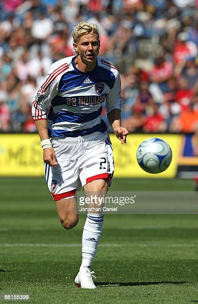 Brek Shea of FC Dallas chases the ball against the Chicago Fire on May 31, 2009 at Toyota Park in Bridgeview, Illinois. FC Dallas defeated the Fire...