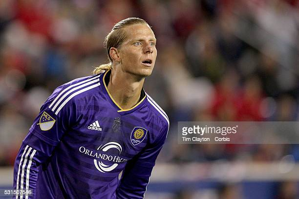Brek Shea of Orlando City FC in action during the New York Red Bulls Vs Orlando City MLS regular season match at Red Bull Arena Harrison New Jersey...