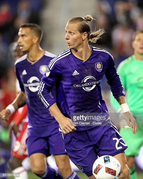 Brek Shea of Orlando City FC in action during the New York Red Bulls Vs Orlando City MLS regular season match at Red Bull Arena Harrison New Jersey...