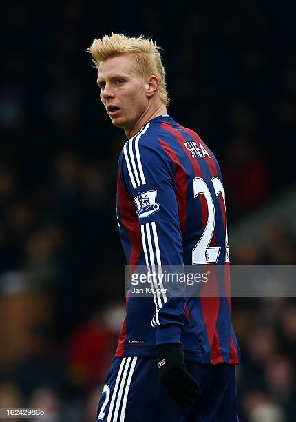 Brek Shea of Stoke looks on during the Barclays Premier League match between Fulham and Stoke City at Craven Cottage on February 23 2013 in London...