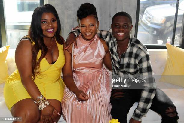 Brely Evans , Alana Arenas and Akili McDowell attend the Summer OF OWN Essence Fest Cocktail Party at Legacy Kitchen on July 6, 2019 in New Orleans,...