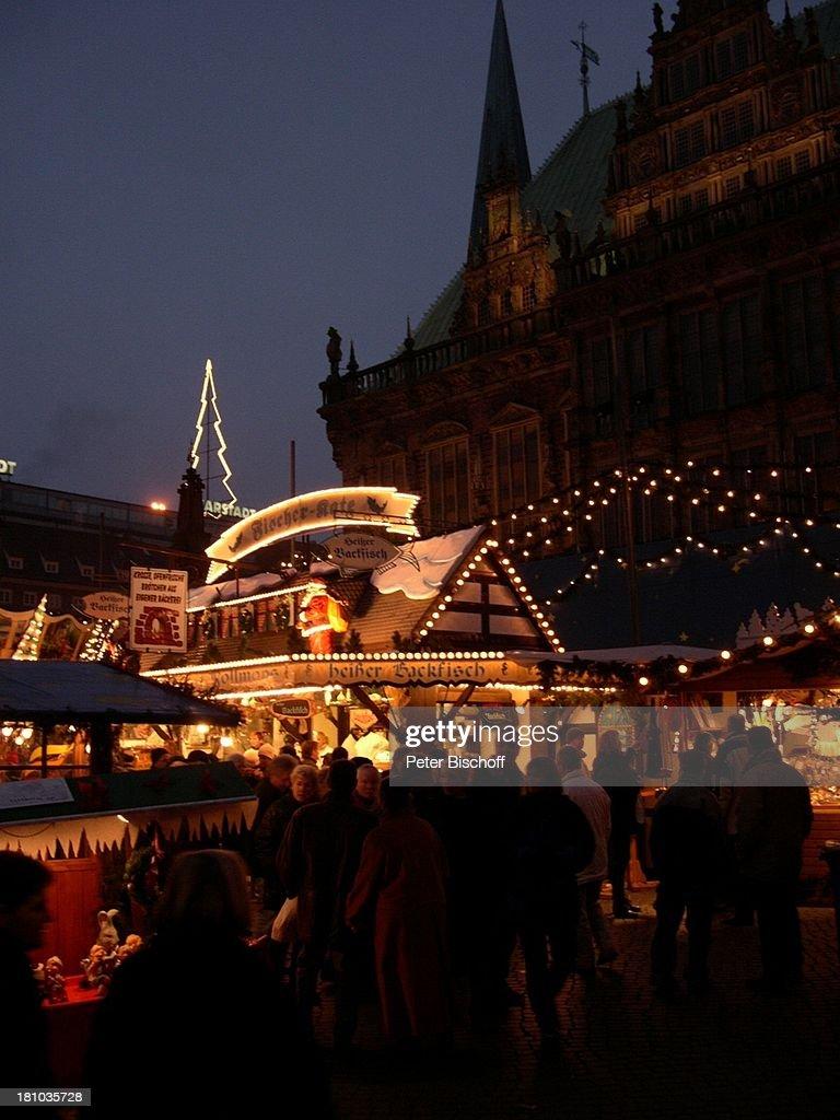 Deutschland Weihnachtsmarkt.Bremen Deutschland Europa Reise Rathaus Weihnachtsmarkt