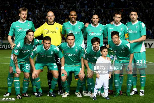 Bremen lines up for a photo prior the UEFA Champions League Group B 2nd leg match between Famagusta and Werder Bremen at the GSP stadium on November...