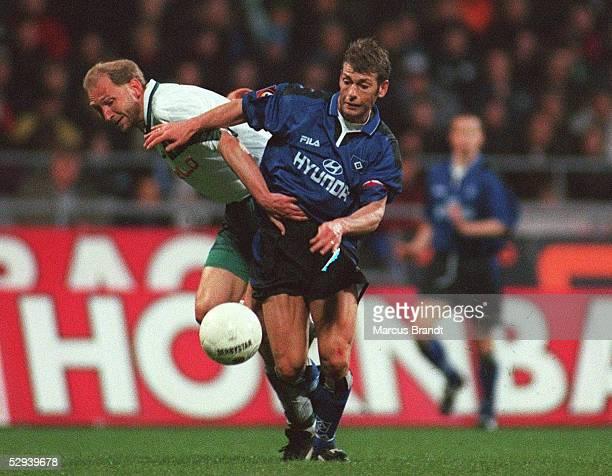 1 BUNDESLIGA 98/99 Bremen SV WERDER BREMEN HAMBURGER SV 00 Dieter EILTS/BREMEN Harald SPOERL/HSV