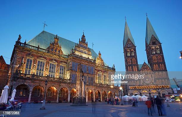 Bremen town hall and cathedral
