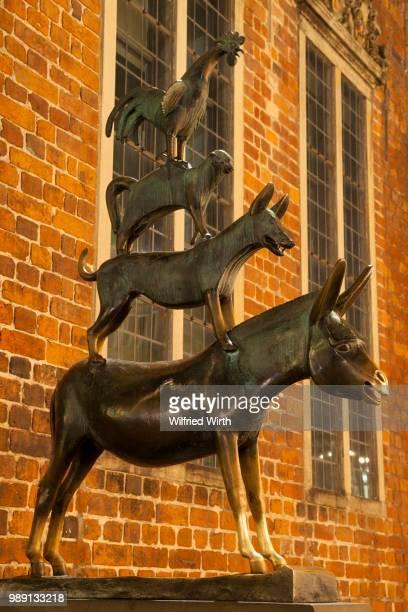 Bremen Town Musicians, sculpture, Bremen, Germany