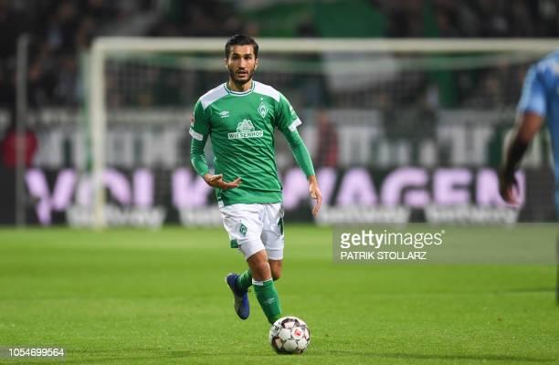 Bremen's Turkish forward Nuri Sahin controls the ball during the German first division Bundesliga football match Werder Bremen vs Bayer 04 Leverkusen...