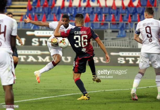 Bremer of Torino scores his goal 31 during the Serie A match between Cagliari Calcio and Torino FC at Sardegna Arena on June 27 2020 in Cagliari Italy