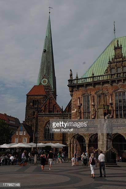Bremer Roland und Rathaus Bremen Deutschland Europa Marktplatz Reise