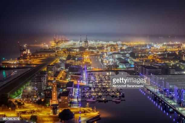 Bremerhaven Harbor at Night