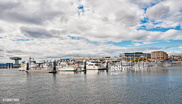 bremerton harbor and boats - kitsap county washington state stock pictures, royalty-free photos & images