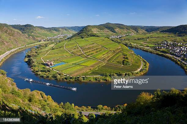 bremm, rhineland-palatinate, river, germany - peter adams stock pictures, royalty-free photos & images