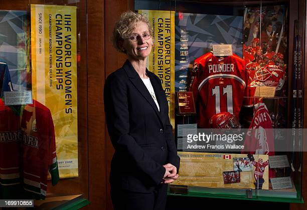 Brenda Andress Executive Director for the Canadian Women's Hockey League poses at The Hockey Hall of Fame in Toronto March 7 2013 The Canadian...