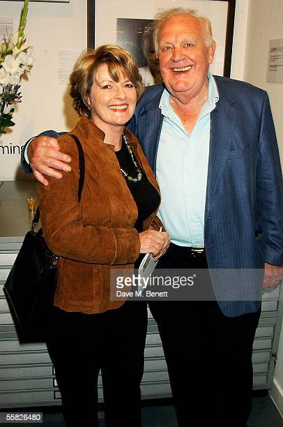 Brenda Blethyn and Joss Ackland attend the Private View for Andy Gotts Degrees at the Getty Images Gallery on September 29 2005 in London England The...
