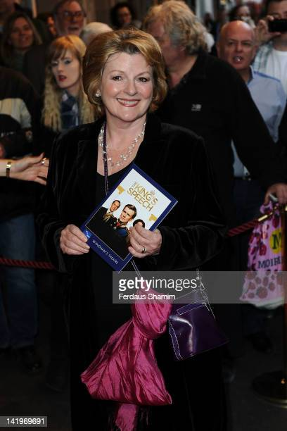 Brenda Blethyn OBE attends the press night of 'The King's Speech' at Wyndhams Theatre on March 27 2012 in London England