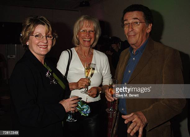 Brenda Blethyn Robert Powell with his wife Babs Powell attend the Barnado Christmas champagne reception at The Hospital December 12 2006 in London...