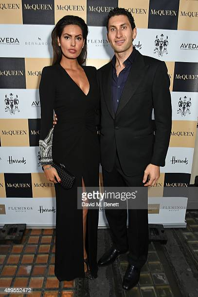 Brenda Costa and Karim Al Fayed attend the exclusive viewing of 'McQueen' hosted by Karim Al Fayed for Lonely Rock Investments during London Fashion...