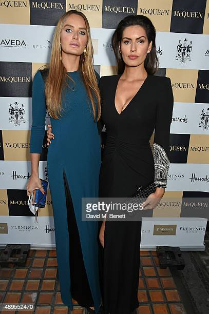 Brenda Costa and Masha Markova Hanson attend the exclusive viewing of 'McQueen' hosted by Karim Al Fayed for Lonely Rock Investments during London...