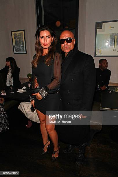 Brenda Costa and Noah attend an after party for the exclusive viewing of 'McQueen' hosted by Karim Al Fayed for Lonely Rock Investments during London...