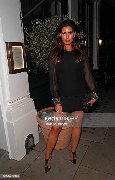 Brenda Costa attends an after party for the exclusive viewing of 'McQueen' hosted by Karim Al Fayed for Lonely Rock Investments during London Fashion...