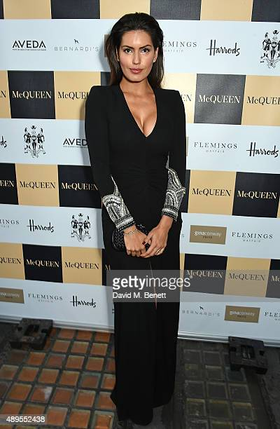 Brenda Costa attends the exclusive viewing of 'McQueen' hosted by Karim Al Fayed for Lonely Rock Investments during London Fashion Week at Theatre...