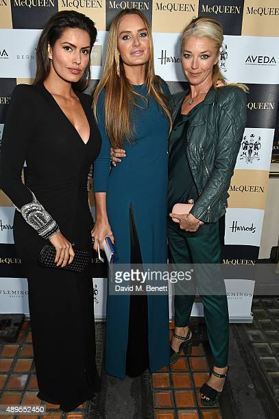 Brenda Costa Masha Markova Hanson and Tamara Beckwith attend the exclusive viewing of 'McQueen' hosted by Karim Al Fayed for Lonely Rock Investments...
