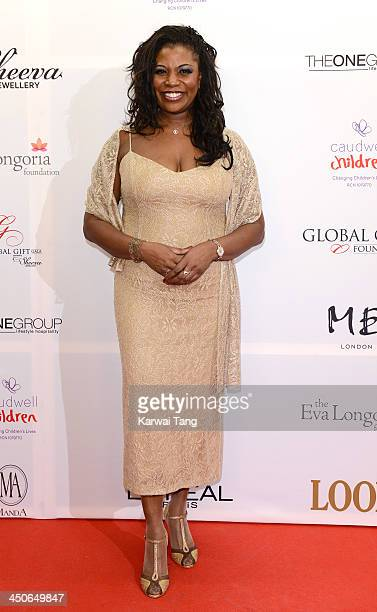 Brenda Edwards attends the London Global Gift Gala at ME Hotel on November 19 2013 in London England