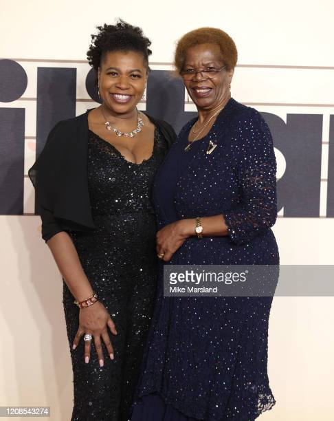 Brenda Edwards attends the Military Wives UK Premiere at Cineworld Leicester Square on February 24 2020 in London England