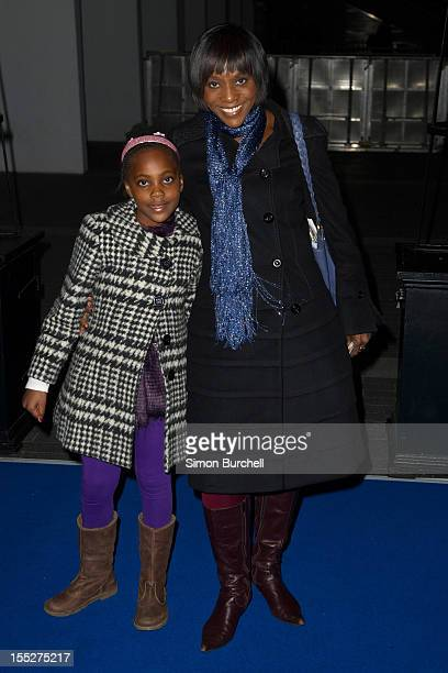 Brenda Emanus and daughter Marley attend the Ice Age Live A Mammoth Adventure World Premiere at Wembley Arena on November 2 2012 in London England