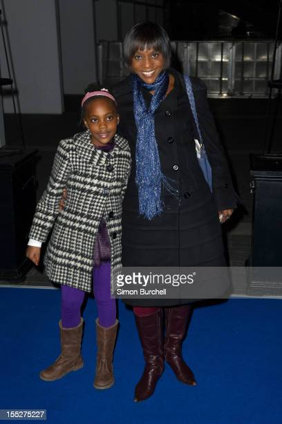Brenda Emanus and daughter Marley attend the Ice Age Live! A Mammoth Adventure World Premiere at Wembley Arena on November 2, 2012 in London, England.