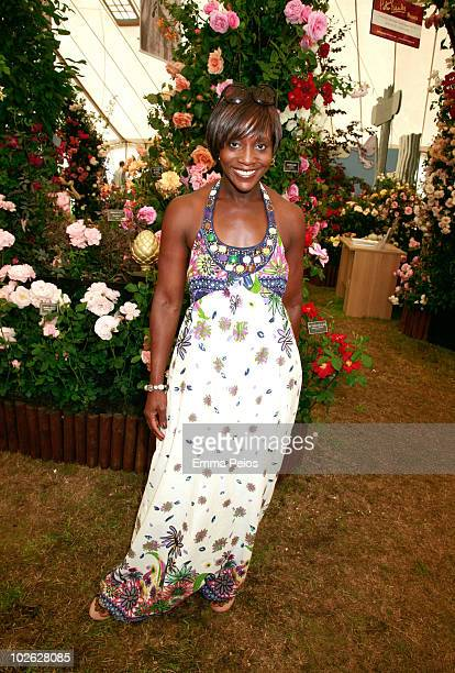 Brenda Emanus attends the press preview at the Hampton Court Palace Flower Show at Hampton Court Palace on July 5 2010 in East Molesey Surrey England...