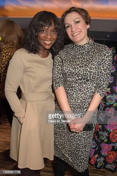 Brenda Emmanus and Catherine Ahmad attend the WOW Foundation x Bloomberg reception at Southbank Centre on March 5, 2020 in London, England.