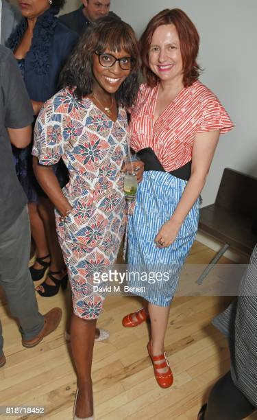 Brenda Emmanus and Clare Stewart attend the Mayor of London's Summer Culture Reception on July 18, 2017 in London, England.